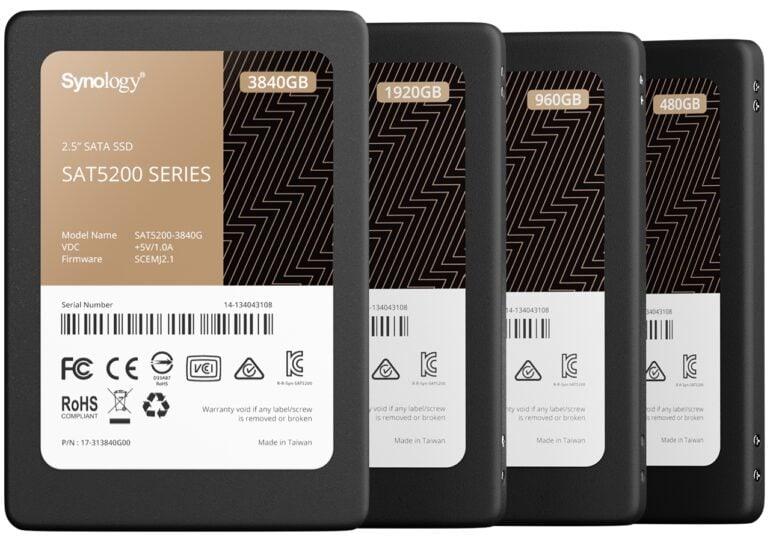 A SYNOLOGY® 3,84 TB-OS SAT5200 MEGHAJTÓVAL BŐVÍTI SSD TERMÉKCSALÁDJÁT