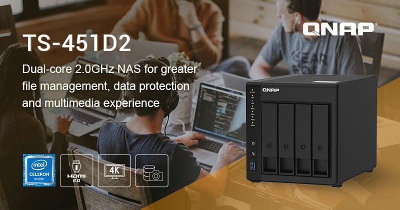 A QNAP bemutatta a 4-lemezes TS-451D2 Intel J4025 kétmagos NAS-t