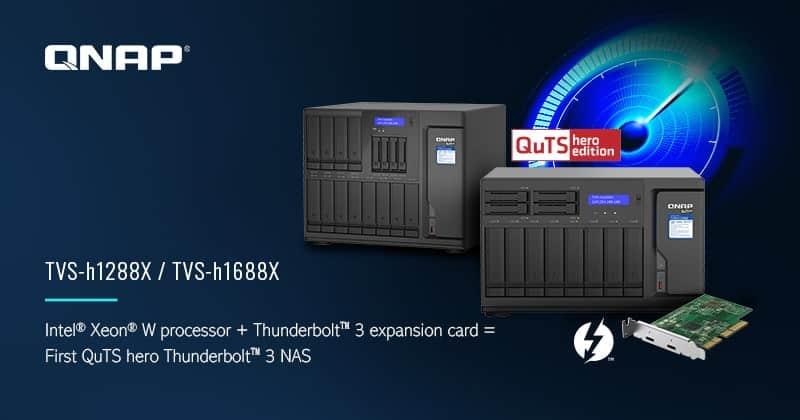 A QNAP bemutatta az TVS-h1288X/TVS-h1688X ZFS NAS-t