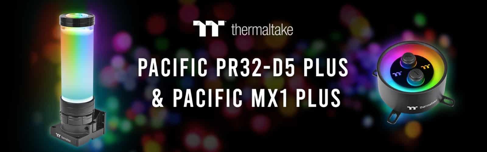 Thermaltake Pacific PR32-D5 Plus tartály és szivattyú kombináció, valamint Pacific MX1 Plus CPU vízhűtő blokk