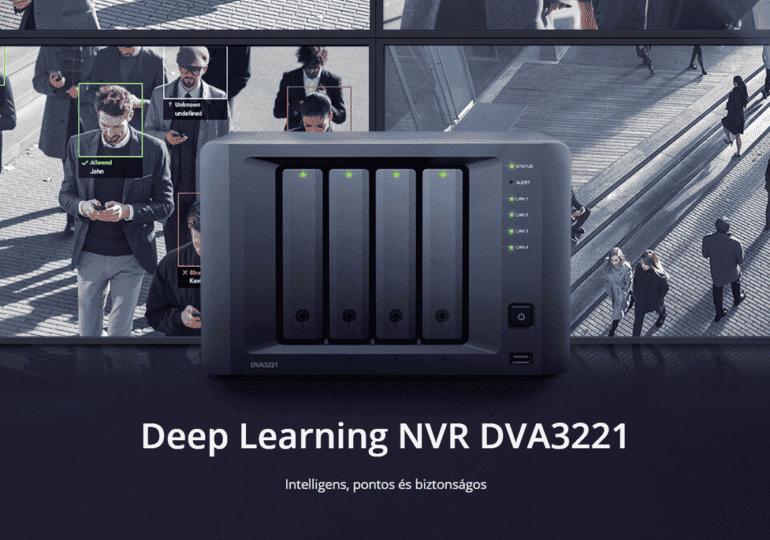 A Synology bemutatja az intelligens felügyelethez tervezett DVA3221 mélytanulási NVR készüléket