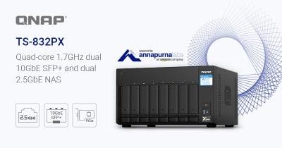 A QNAP bemutatta a négymagos, 8-lemezes TS-832PX NAS-t