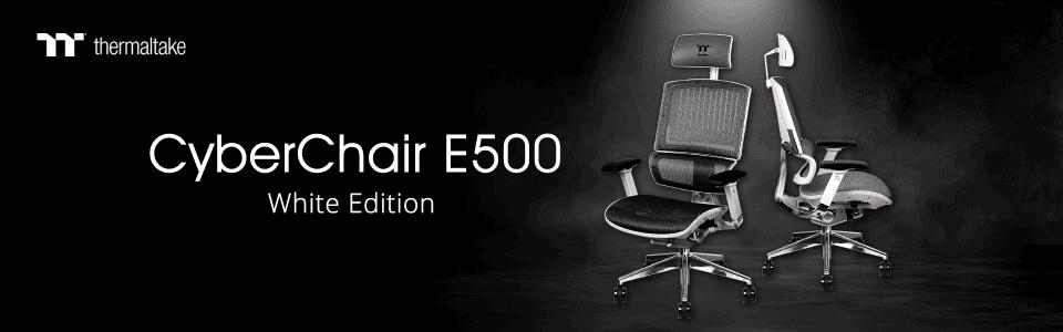 A Thermaltake bemutatta a legújabb ergonomikus székét, a CyberChair E500 White Edition-t