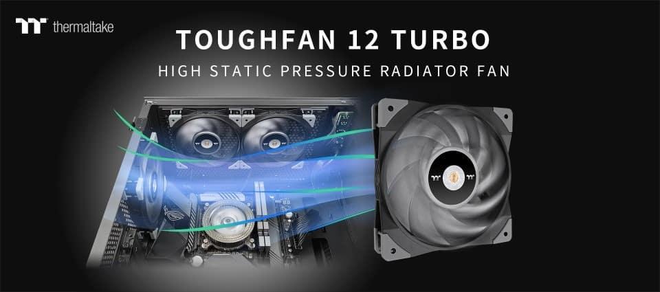 Thermaltake TOUGHFAN 12 Turbo nagy statikus nyomású radiátor ventilátor