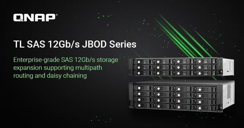A QNAP bemutatta a 12- és 16-lemezes TL SAS 12 Gb/s JBOD sorozatot