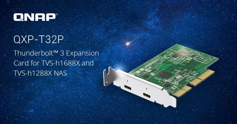 A QNAP bemutatta a kétportos Thunderbolt™ 3 bővítőkártyát a TVS-h1688X és TVS-h1288X NAS-okhoz