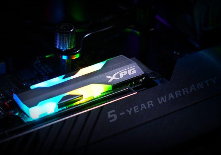Az XPG bemutatta a SPECTRIX S20G PCIe Gen3x4 M.2 2280 SSD meghajtót