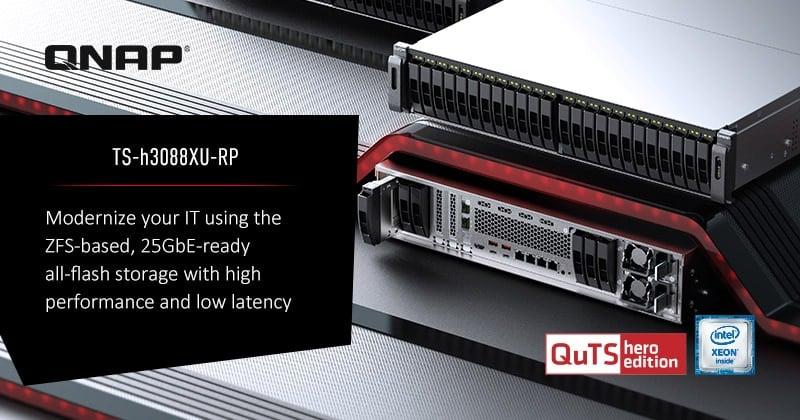 A QNAP bemutatja a 30-lemezes, teljesen flash alapú TS-h3088XU-RP NAS-t