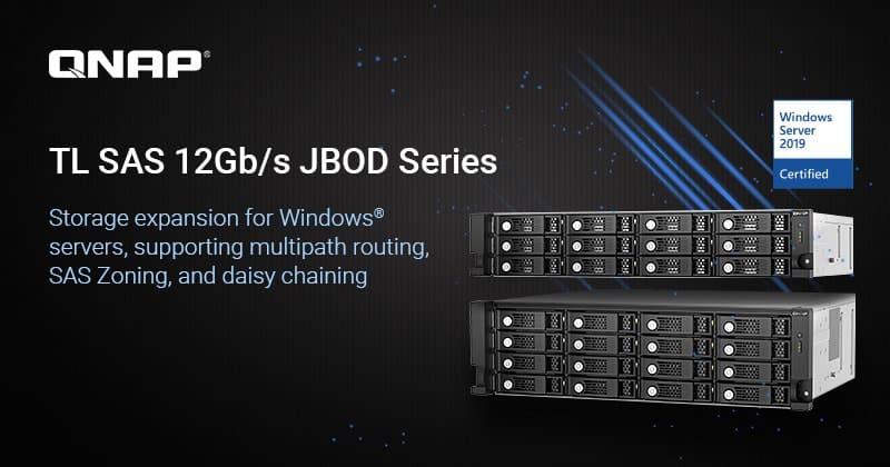 QNAP TL SAS 12 Gb/s JBOD sorozat Windows szerverbővítéshez