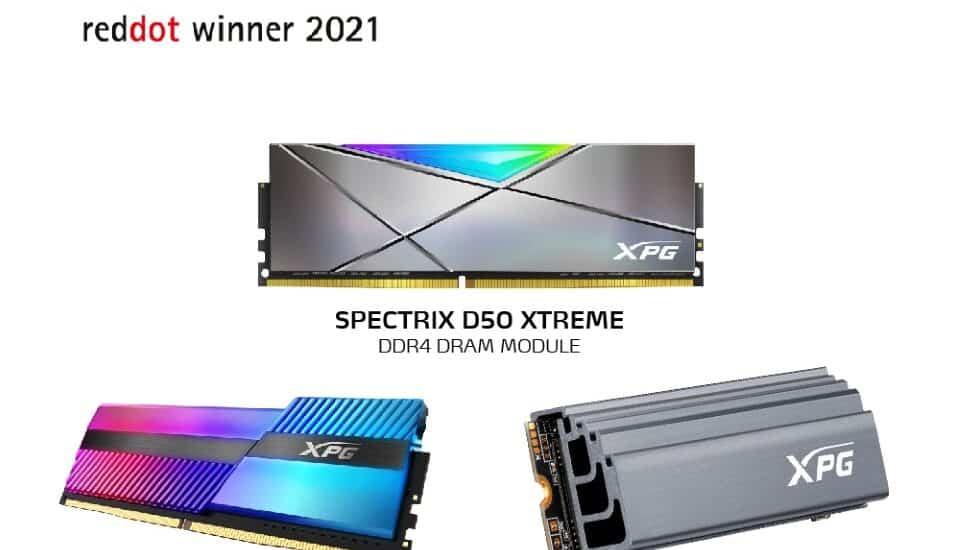 Az XPG három Red Dot tervezési elismerést kapott