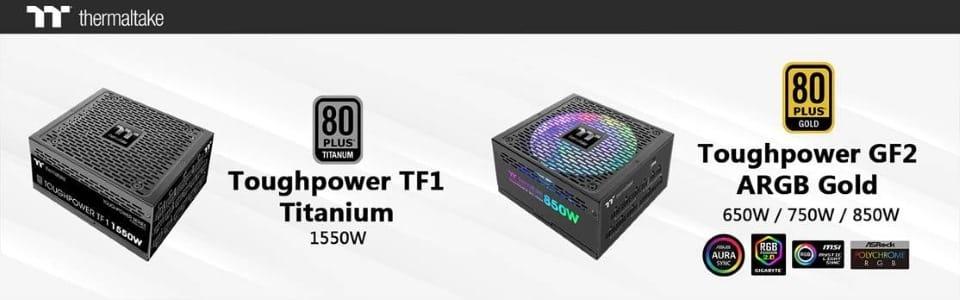 Megjelentek a Thermaltake Toughpower TF1 Titanium és a Toughpower GF2 ARGB Gold sorozatú analóg tápegységek
