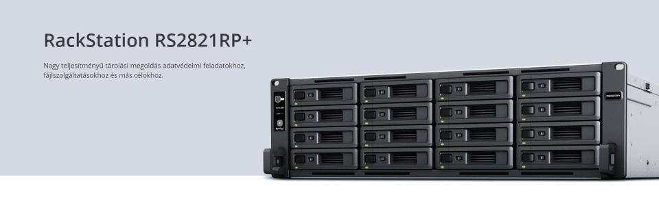 A Synology bemutatta az új, 3U kialakítású, 16-lemezes RackStation RS2821RP+ megoldását