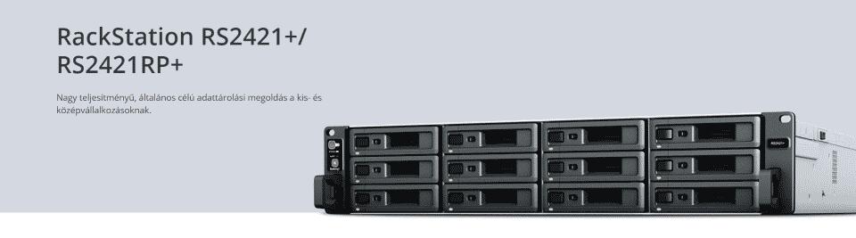 A Synology bemutatta az új, 12-lemezes RackStation RS2421+ és RS2421RP+ készülékeket