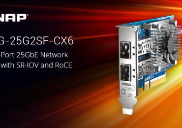 A QNAP bemutatja a kétportos, 25 GbE sebességű hálózati kártyáját