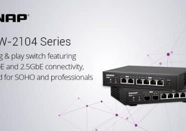 A QNAP bemutatta a 6 portos, nem menedzselhető QSW-2104 switch sorozatot