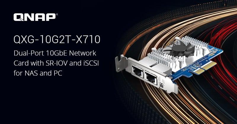 A QNAP bemutatja a legújabb kétportos 10 GbE hálózati kártyáját SR-IOV és iSCSI képességekkel
