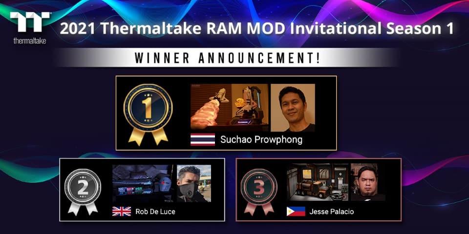 A Thermaltake bejelentette a 2021 Thermaltake RAM MOD Invitational 1. évadának nyerteseit