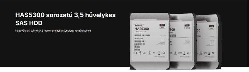 A Synology® bemutatja a nagy teljesítményű rendszerekhez készített, nagyvállalati HAS5300 SAS merevlemezeit