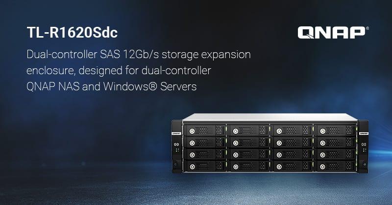 Megjelent a QNAP 16-lemezes TL-R1620Sdc dual-controlleres SAS 12Gb/s JBOD bővítóegysége