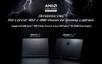 Az MSI bejelentette a legújabb Radeon™ RX 6000M sorozatú GPU-t használó AMD Advantage™ laptopjait