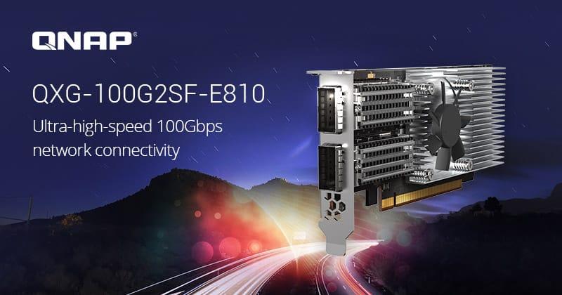 Megjelent a QNAP kétportos 100 GbE hálózati bővítőkártyája
