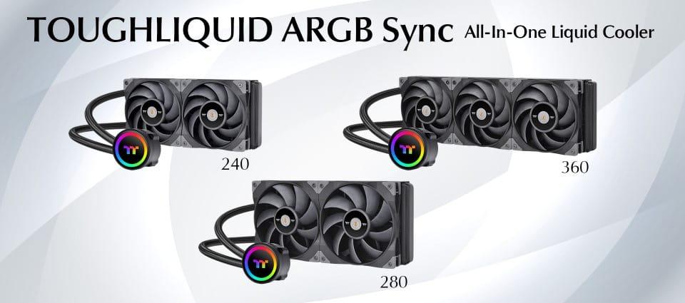A Thermaltake bejelentette a TOUGHLIQUID 240/280/360 ARGB Sync All-In-One folyadékhűtések megjelenését