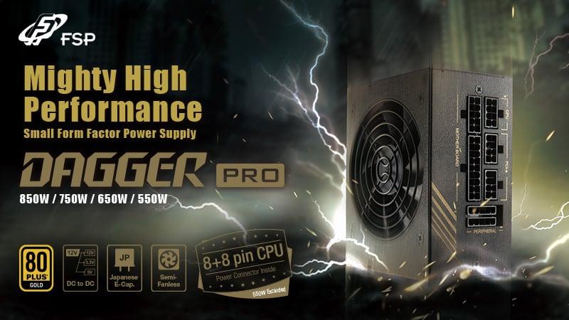 Az FSP bemutatta a DAGGER PRO SFX 750W/850W tápegységeit