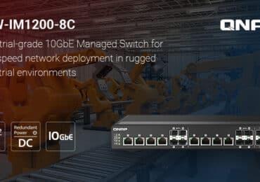 A QNAP bemutatja a QSW-IM1200-8C, ipari minősítésű 10 GbE sebességű switch-cset